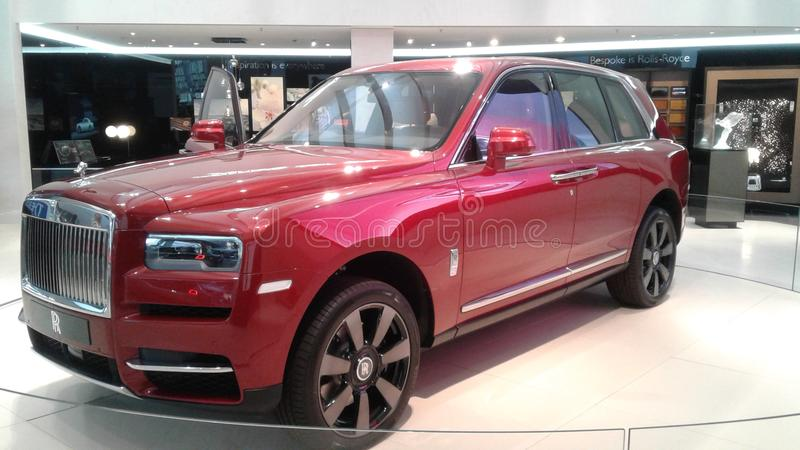 Rolls-Royce Cullinan. Ð¡ar side view royalty free stock photo