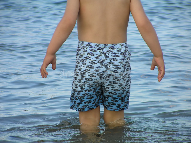 Download First swim stock photo. Image of strand, reserved, seasonal - 172724