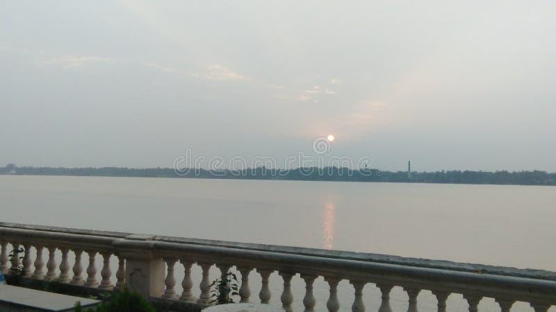 Sun set time. First time image royalty free stock photos
