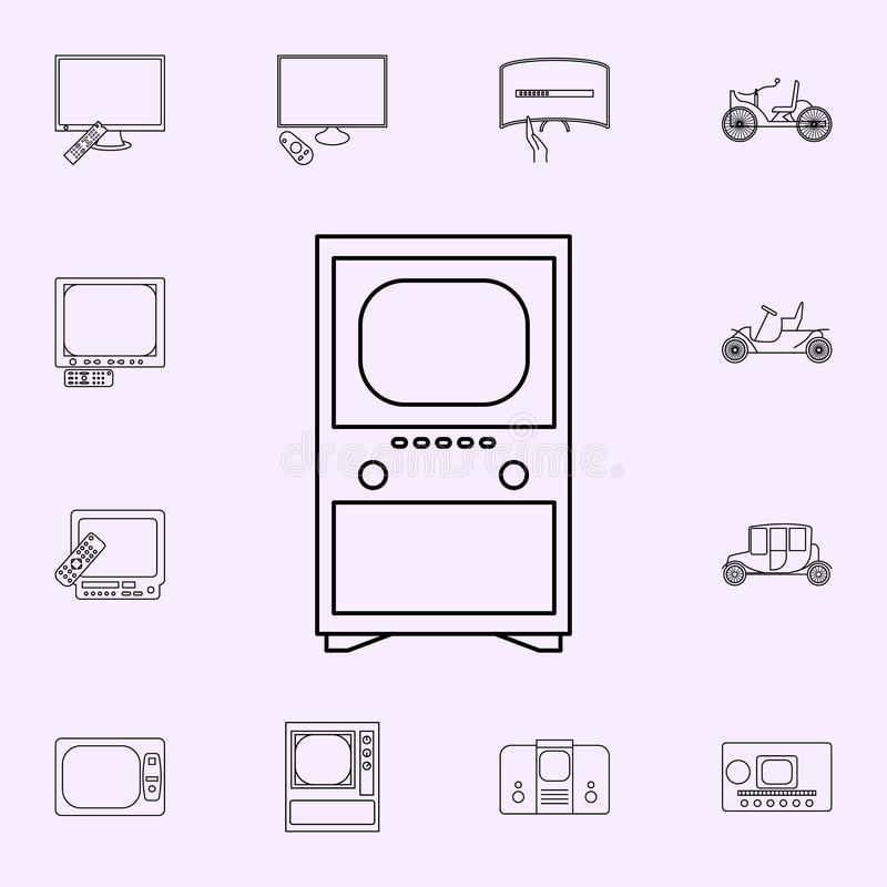 First TV icon. Generation icons universal set for web and mobile. On color background stock illustration