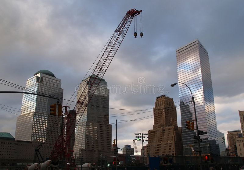 Download The First Two Steel Beams For The Freedom Tower Rose At Ground Zero In New York City Editorial Photography - Image: 1701302
