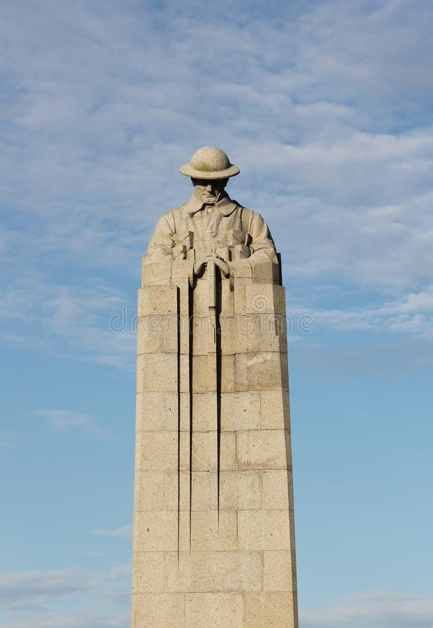 Download First World War Canadian Brooding Soldier Memorial St Julien Ypres Belgium Frontal View Stock Photo - Image: 31325008