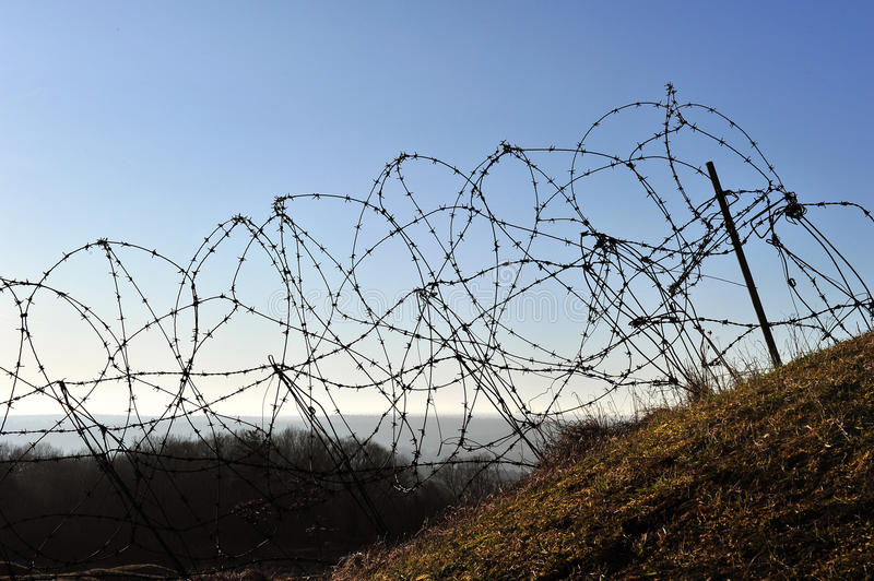 Download First World War Fort Douaumont Barbed Wire Stock Photo - Image: 23528320