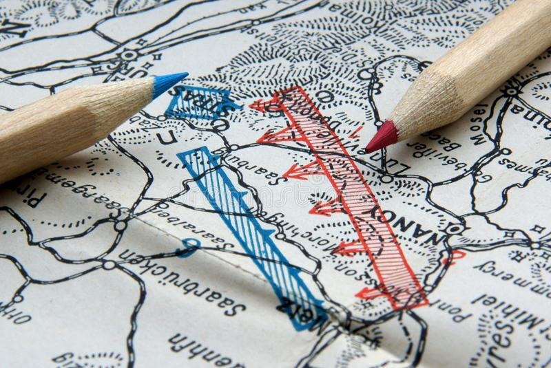 First World War map royalty free stock photo