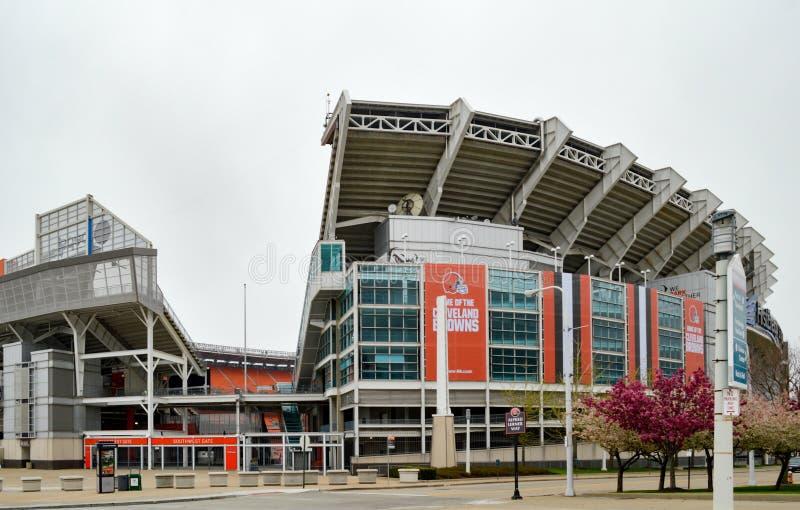 FirstEnergy för sydvästingångsport stadion Cleveland Ohio arkivbild