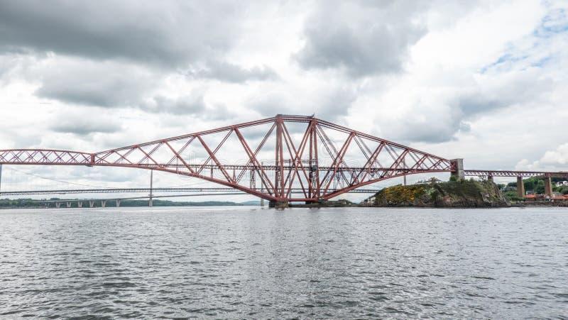 Firth av framåt den Skottland Edinburg royaltyfri bild