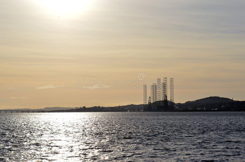 Firth de Tay et port de Dundee, Ecosse image stock