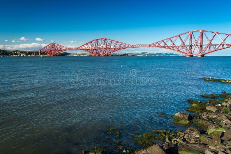 Firth of Forth Bridge in Scotland stock photos