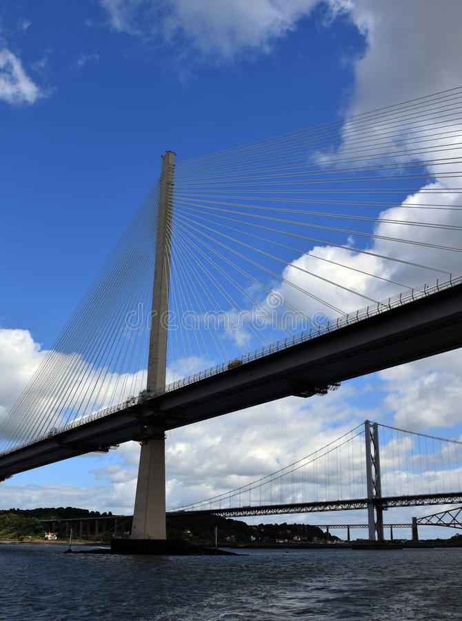 Firth of Forth Bridges royalty free stock photos