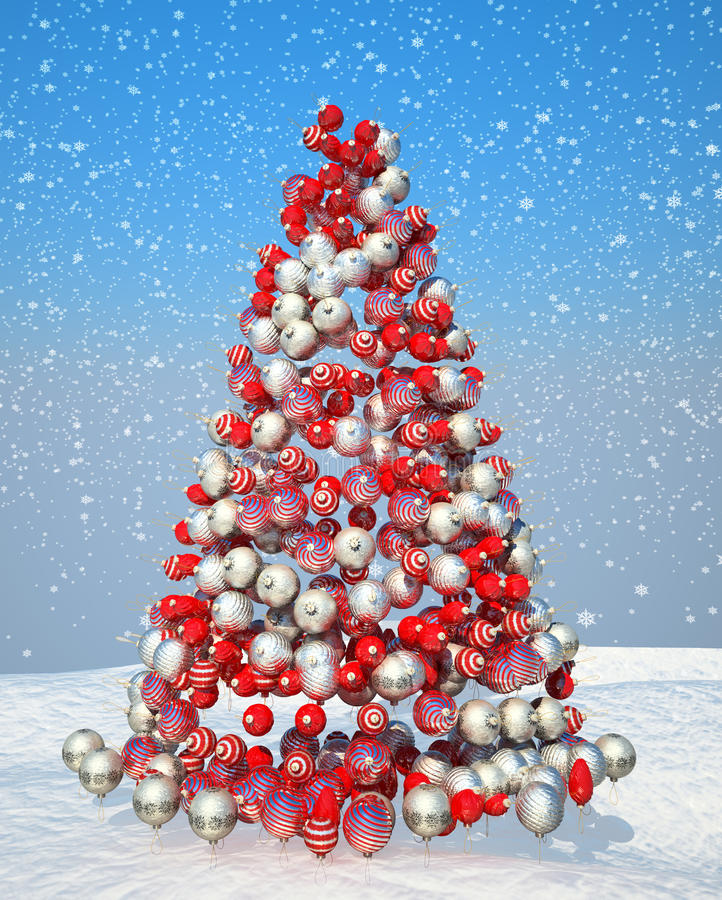 Download Firtree Shape Assembled With Xmas Decoration Stock Illustration - Illustration of decorate, ribbon: 16834272