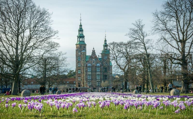 Firtst dzień wiosna w Kopenhaga obraz royalty free