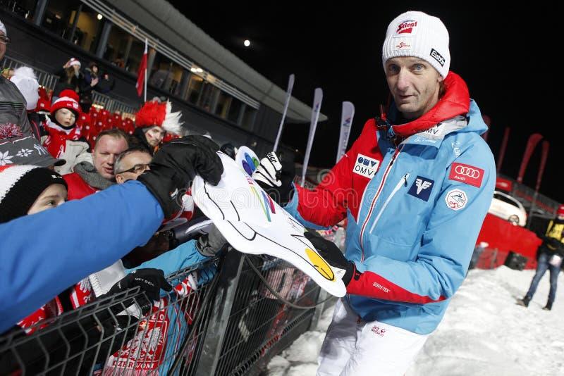 FIS Ski jumping World Cup in Zakopane 2016 stock images