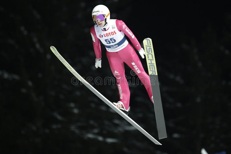 FIS Ski jumping World Cup in Zakopane 2016 stock photos