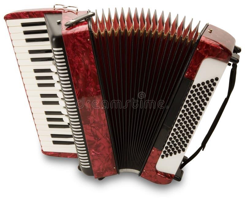 Fisarmonica rossa immagine stock