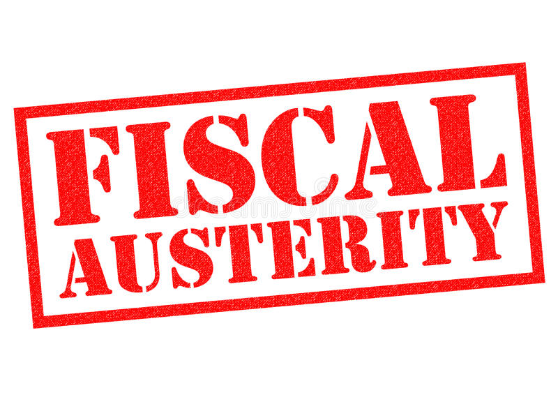 FISCAL AUSTERITY. Red Rubber Stamp over a white background royalty free illustration