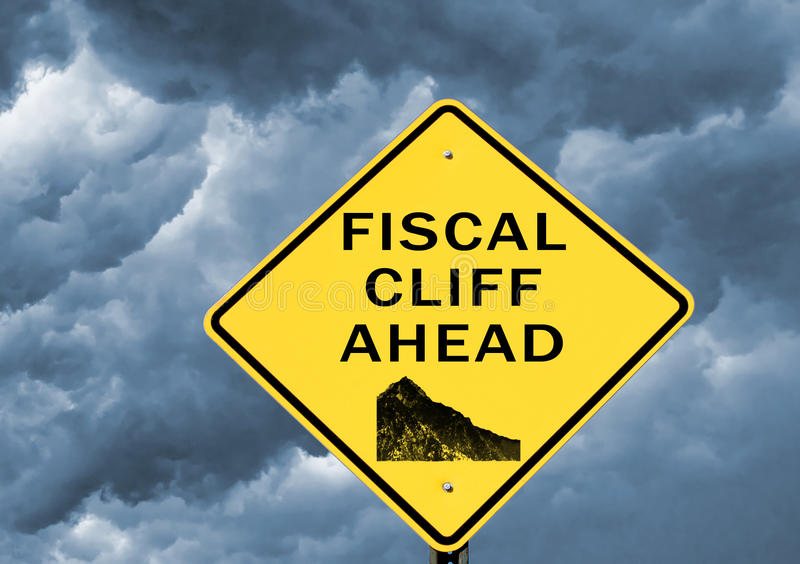 Fiscal cliff royalty free stock photos