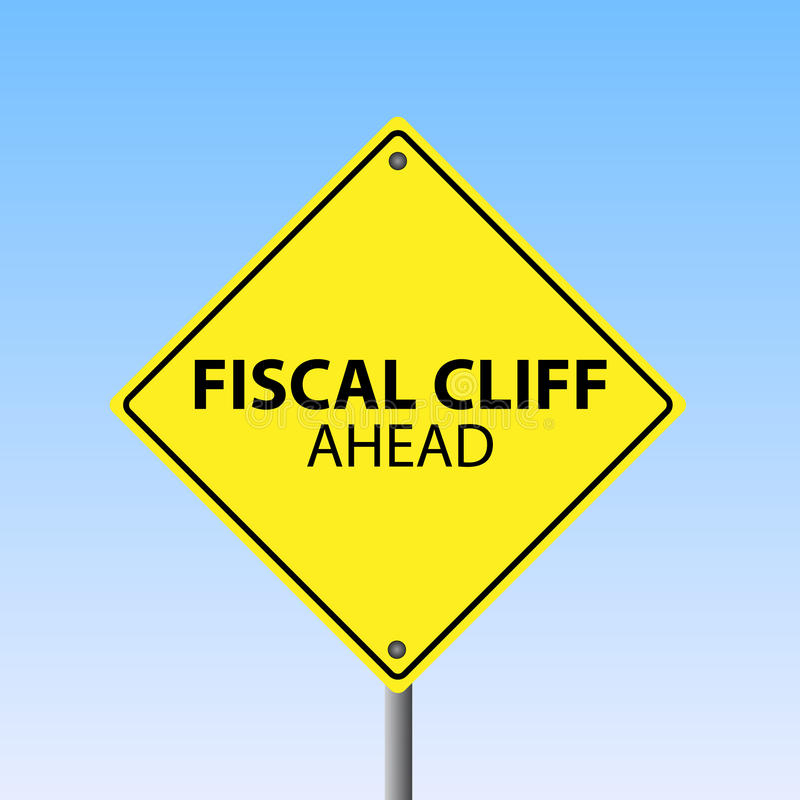 Fiscal Cliff Ahead vector illustration