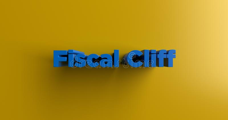 Fiscal Cliff - 3D rendered colorful headline illustration. Can be used for an online banner ad or a print postcard vector illustration