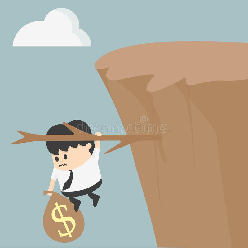 Fiscal cliff royalty free illustration