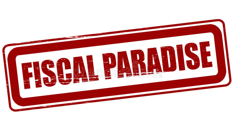 Fiscal paradise. Rubber stamp with text fiscal paradise inside, illustration stock illustration