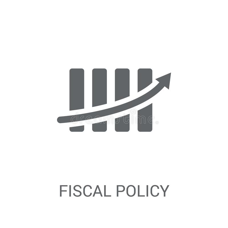 Fiscal policy icon. Trendy Fiscal policy logo concept on white b. Ackground from business collection. Suitable for use on web apps, mobile apps and print media vector illustration