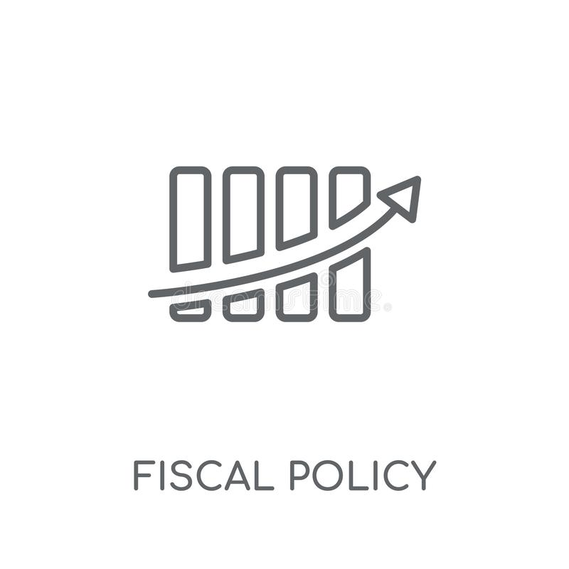 Fiscal policy linear icon. Modern outline Fiscal policy logo con. Cept on white background from business collection. Suitable for use on web apps, mobile apps royalty free illustration