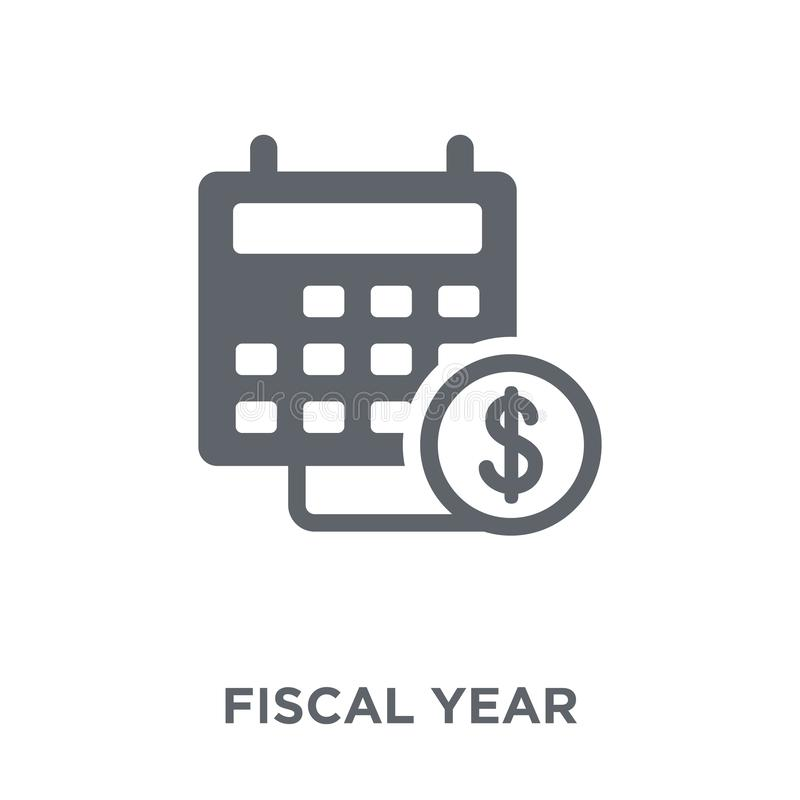 Fiscal year icon from Fiscal year collection. Fiscal year icon. Fiscal year design concept from Fiscal year collection. Simple element vector illustration on stock illustration