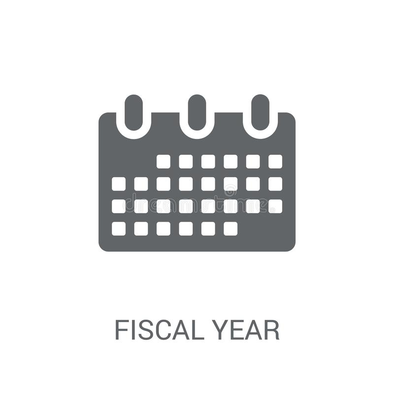 Fiscal year icon. Trendy Fiscal year logo concept on white background from business collection. Suitable for use on web apps, mobile apps and print media royalty free illustration