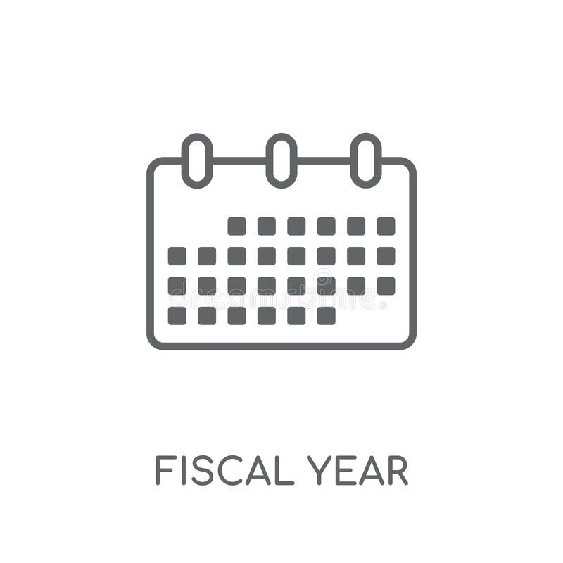 Fiscal year linear icon. Modern outline Fiscal year logo concept. On white background from business collection. Suitable for use on web apps, mobile apps and vector illustration