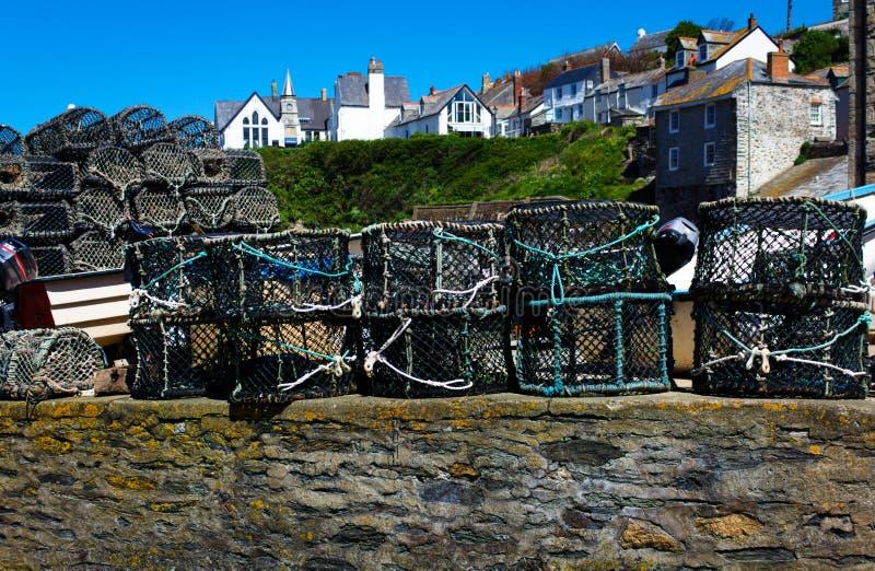 Fisch-Falle - II - Hafen Isaac Cornwall - Großbritannien stockbilder