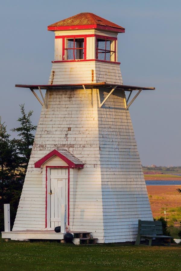 Fisch-Insel-Leuchtturm auf Prinzen Edward Island stockfoto