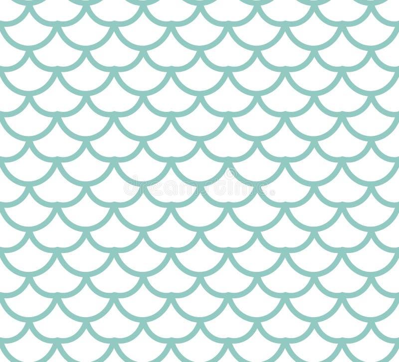 Fisch-Skala-nahtloses Muster Fischen Sie endlosen Hintergrund der Haut, das Meerjungfrauendstück, das Beschaffenheit wiederholt A lizenzfreie abbildung