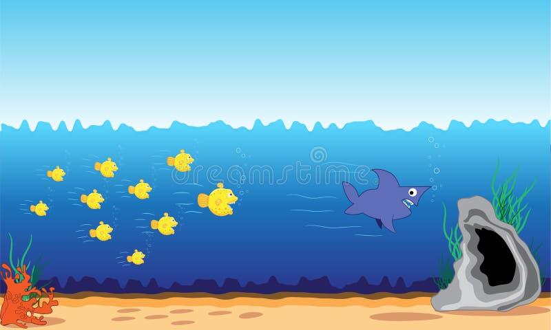 Fischangriff stock abbildung