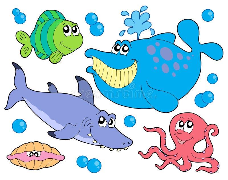 Fischansammlung lizenzfreie abbildung