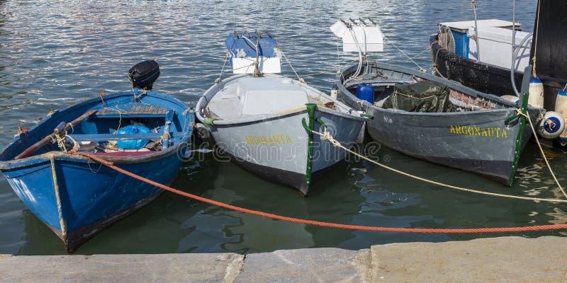 Fischboote an La Spezia-Hafen Ligurien Italien lizenzfreie stockfotografie