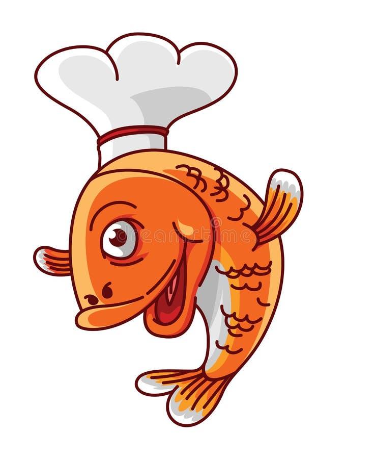 Fischchef vektor abbildung