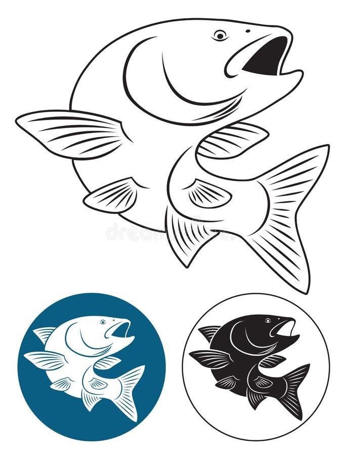 Fischdöbel vektor abbildung