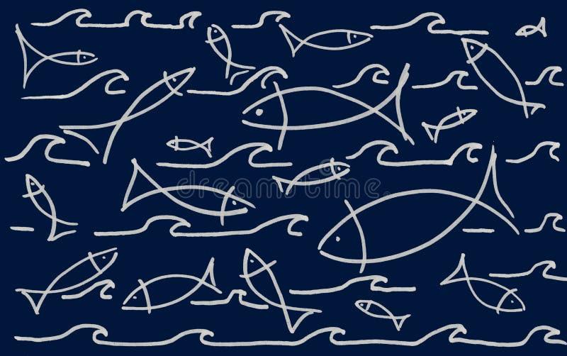 Fische im Wasser stock abbildung