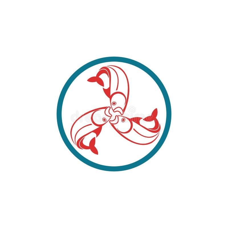 Fische Logo Template vektor abbildung