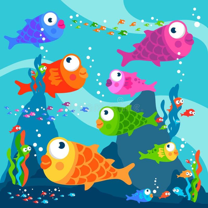 fische unterwasser vektor abbildung illustration von nett