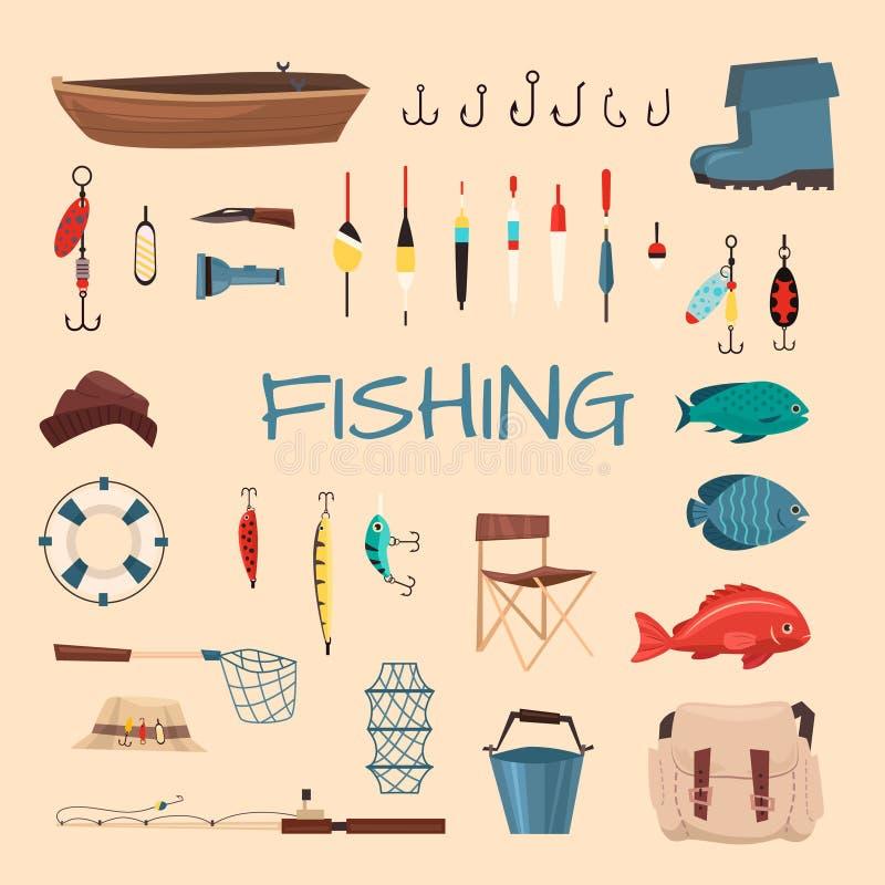 Fischen bearbeitet Illustration lizenzfreie abbildung