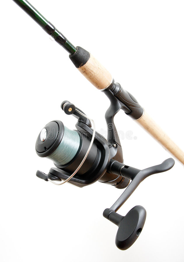 Fischenbandspule lizenzfreie stockfotos