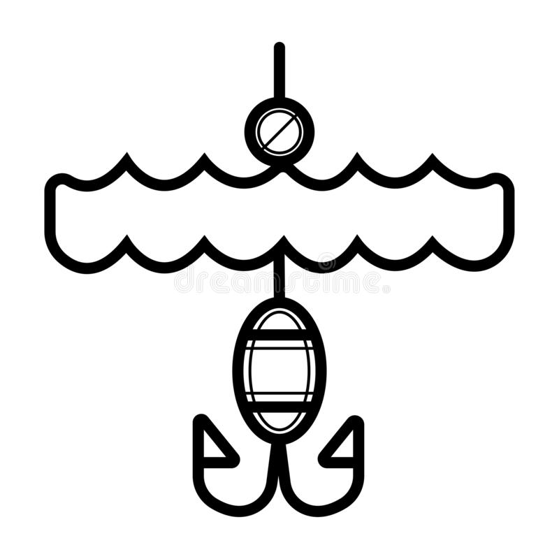 Fischenikonenvektor vektor abbildung