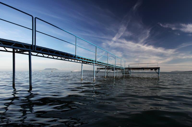 Fischenpier lizenzfreie stockfotografie