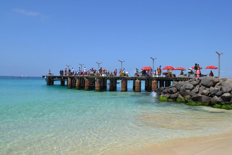 Fischenpier in Santa Maria lizenzfreie stockfotos