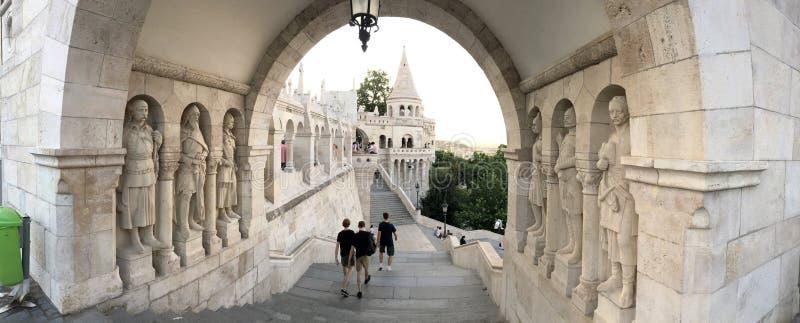 Fischer Bastion, Budapest stockfotografie