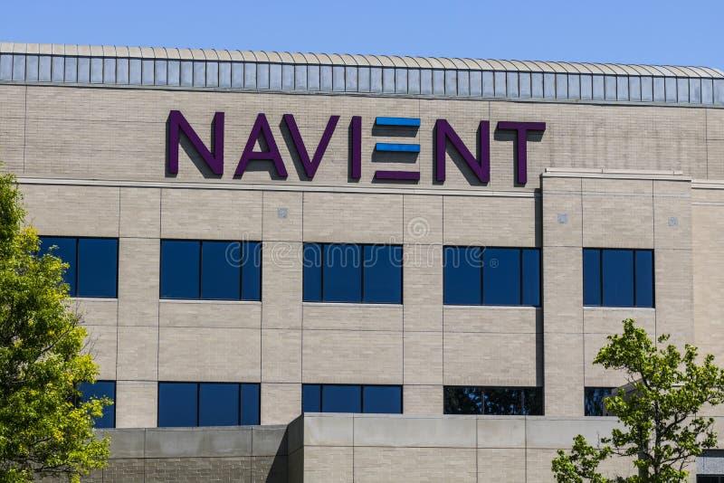 Fischer - circa im Mai 2017: Standort Navient Corporation Indianapolis spann weg von Sallie Mae II lizenzfreie stockfotografie