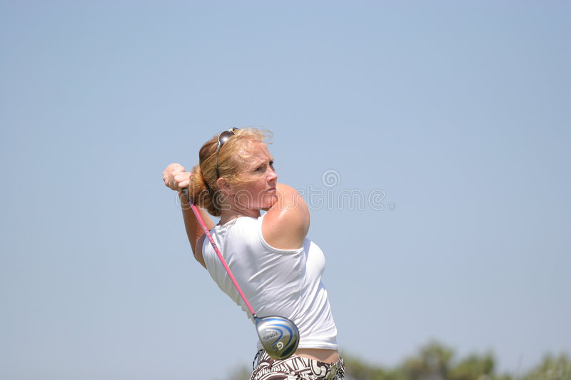 Fischer, Losone 2007, Golf Ladies european royalty free stock image