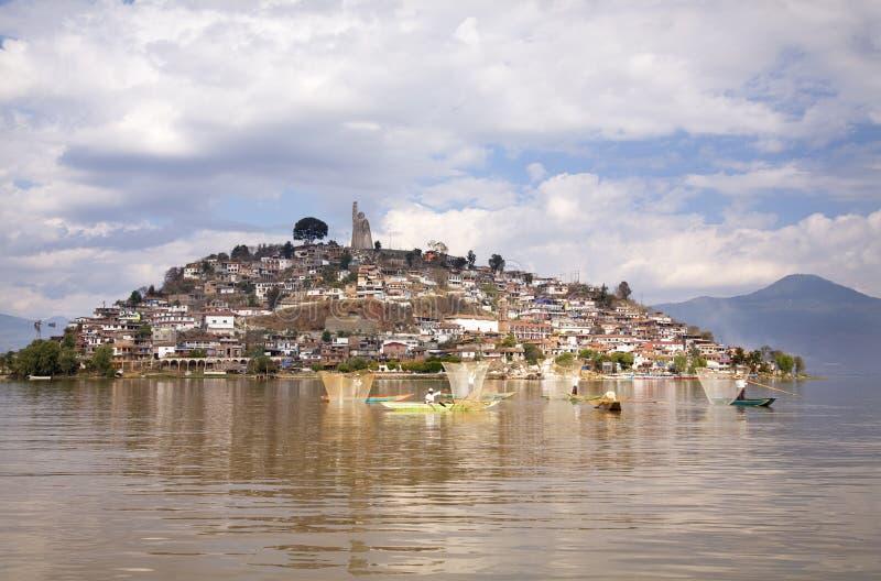 Fischer-Netze Janitizo Insel Mexiko stockfotografie