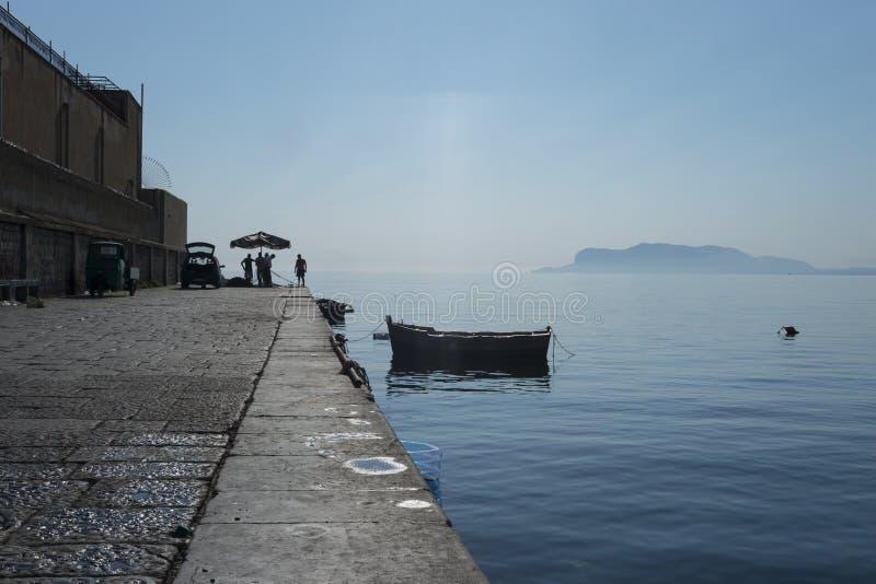 Fischer in Palermo lizenzfreies stockfoto